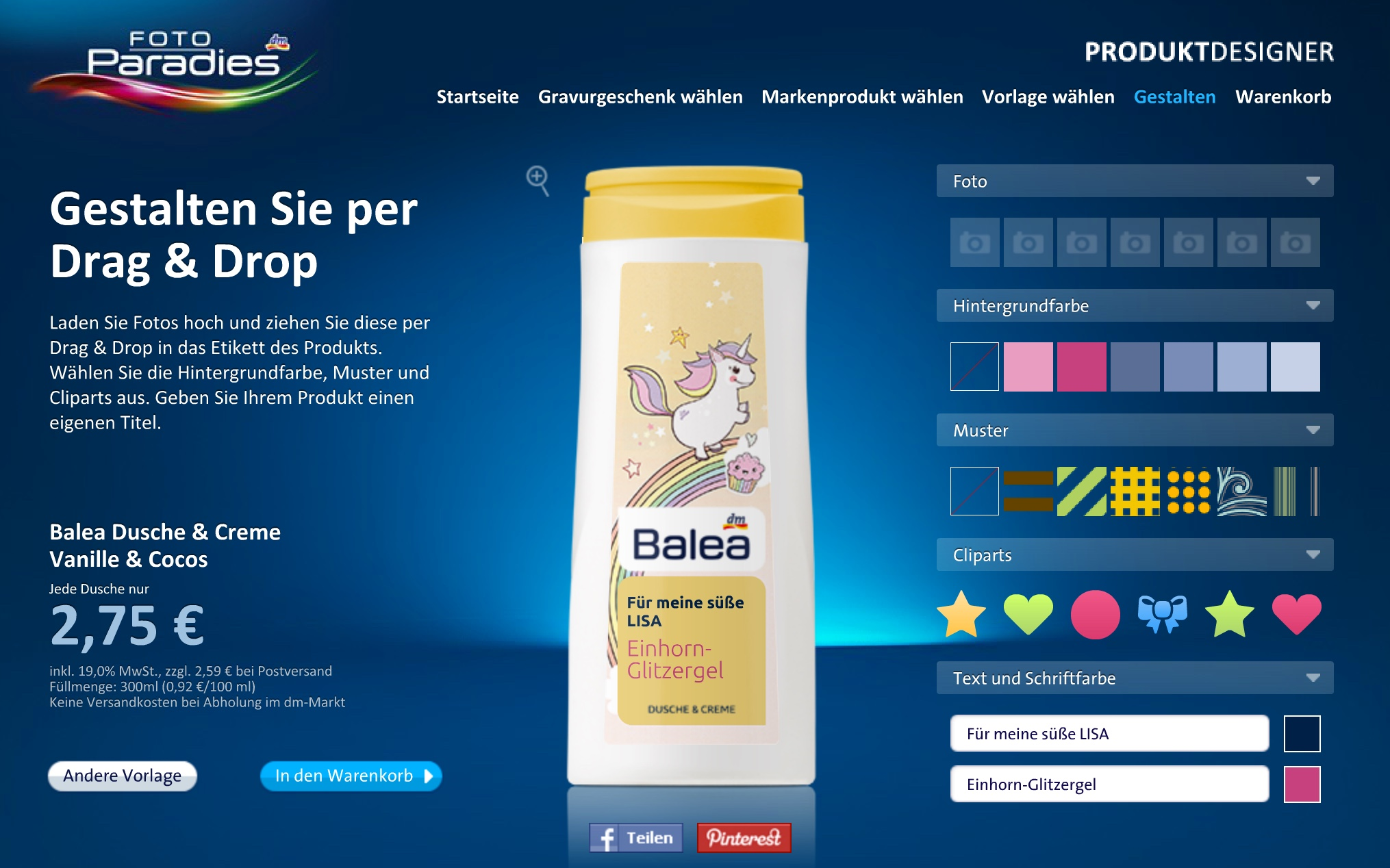 Online Produkt-Designer